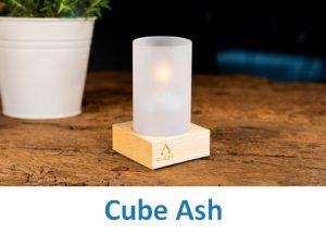 Lampki dekoracyjne Heliotron: model Cube Ash - szczegóły