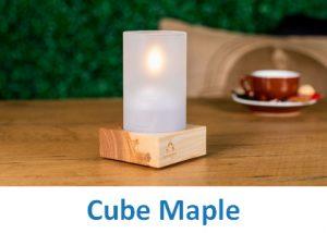 Lampki dekoracyjne Heliotron: model Cube Maple - szczegóły