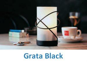 Lampki dekoracyjne Heliotron: model Grata Black - szczegóły