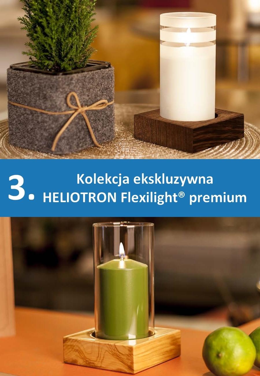 Lampki stołowe na płynny wosk - kolekcja ekskluzywna
