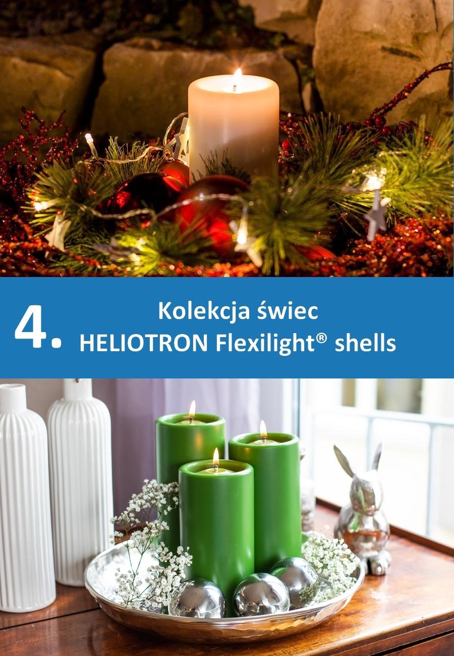 Lampki stołowe na płynny wosk - kolekcja świec ozdobnych