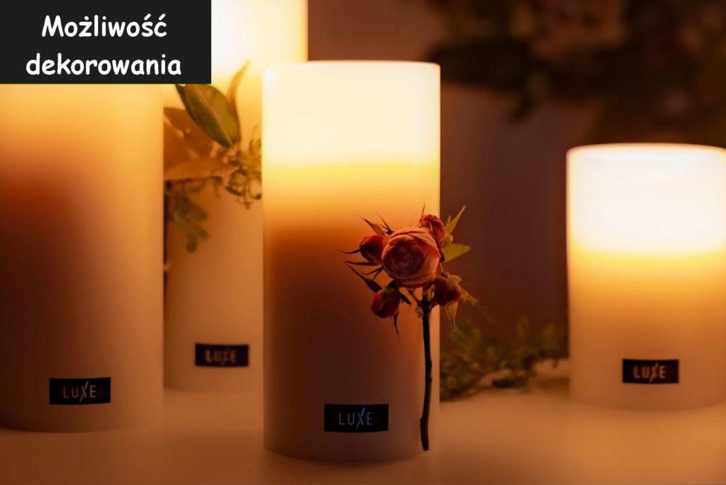 świeca używana do dekoracji ogrodu